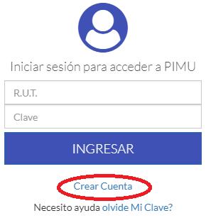 Crear Cuenta PIMU